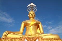 złoty duży Buddha Obraz Stock