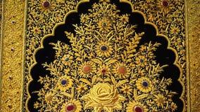 Złoty dywanu wzór zbiory wideo