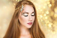 Złoty dziewczyny przyjęcie Zdjęcie Royalty Free
