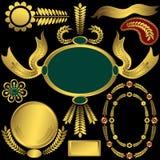 złoty elementu set royalty ilustracja