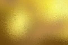 Złoty foliowy tekstury tło Zdjęcia Stock