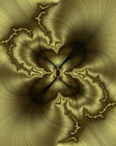 złoty fractal jedwab