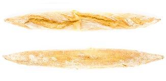 Złoty Francuski Skorupiasty Baguette całej banatki chleb od dwa s Obraz Royalty Free