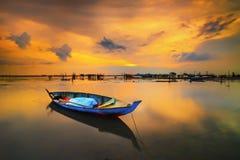 Złoty godziny sunset3 Batam wyspy riau Indonesia Asia obrazy stock