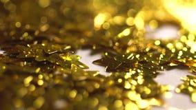 Złoty gwiazd spadać zbiory