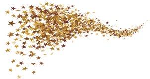 Złoty gwiazdowy ogon robić małe gwiazdy royalty ilustracja