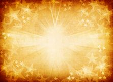 Złoty gwiazdowy tło. Zdjęcia Stock