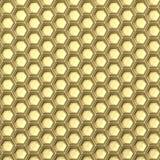 złoty honeycomb abstrakcyjny tło 3d ilustracja wektor