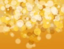 Złoty i biały bokeh. Obraz Royalty Free