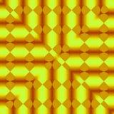 Złoty jaśnienie projekt nowożytna fractal kwadrata linii rama Zdjęcie Royalty Free
