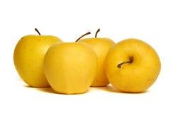złoty jabłka kolor żółty Zdjęcie Royalty Free