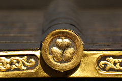 Złoty japończyka dach Sigil Obrazy Royalty Free