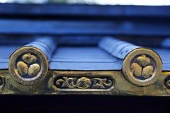 Złoty japończyka dach Sigils Zdjęcie Stock