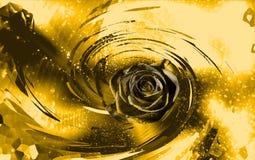 Złoty jaskrawy błękitny tło Obrazy Stock