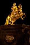 złoty jeździec obraz royalty free