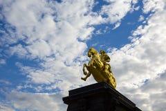 Złoty jeździec w Drezdeńskim, Niemcy fotografia royalty free