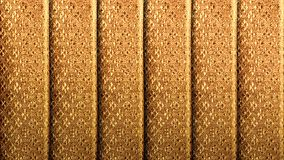 Złoty jedwab z rocznika królewskim deseniowym tłem Luksus wyplata teksturę robić od tajlandzkiego jedwabiu fotografia stock
