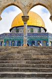 złoty Jerusalem meczet kopuły obraz stock
