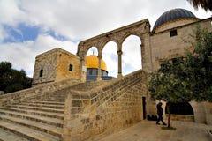 złoty Jerusalem meczet kopuły zdjęcia royalty free