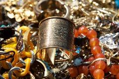 Złoty Jewlery obrazy royalty free