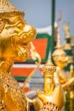 Złoty kąt przy Watem Phra Kaeo, świątynia Szmaragdowy Buddha i Zdjęcie Stock