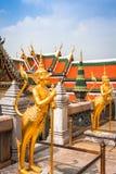 Złoty kąt przy Watem Phra Kaeo, świątynia Szmaragdowy Buddha i Obrazy Stock