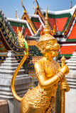 Złoty kąt przy Watem Phra Kaeo, świątynia Szmaragdowy Buddha i Obraz Stock