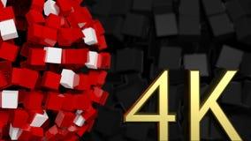 Złoty 4K symbol Zdjęcie Stock
