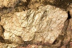 Złoty kamień Fotografia Royalty Free