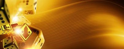 Złoty Kasynowy bzdury tło royalty ilustracja