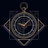 Złoty kieszeń zegar Obraz Stock