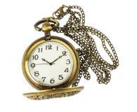 Złoty kieszeniowy zegarek zdjęcia stock
