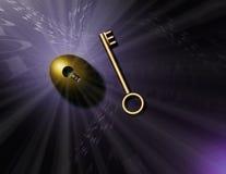 złoty klucz Obrazy Stock