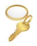 złoty klucz Fotografia Stock