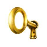 złoty klucz royalty ilustracja