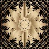 Złoty koronka wzór zdjęcie stock