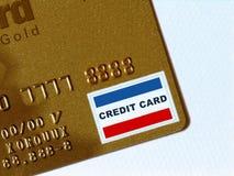 złoty kredytowe karty Obrazy Stock