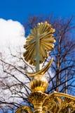 Złoty krzyż Obraz Stock
