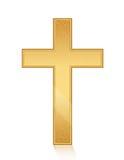 Złoty krzyż ilustracja wektor