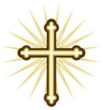 Złoty krzyż royalty ilustracja