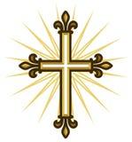 Złoty krzyż ilustracji