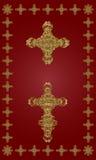 złoty krzyż Fotografia Royalty Free
