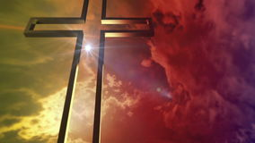 Złoty krzyż z okulistycznym racą ilustracji
