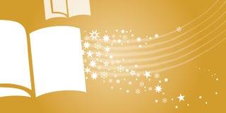 Złoty książka talon ilustracja wektor