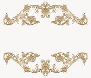 Złoty kwiecisty kąt Zdjęcia Royalty Free