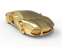 Złoty Lamborghini Aventador royalty ilustracja