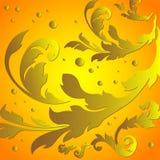złoty liść Zdjęcie Royalty Free