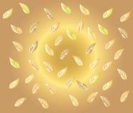 Złoty liścia tło Fotografia Royalty Free