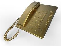 Złoty linii telefonicznej pojęcie ilustracja wektor