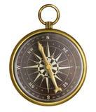 Złoty lub mosiężny stary nautyczny kompas ilustracji